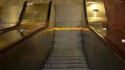 movement on escalators - downstairs Footage