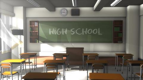 Empty high school classroom GIF
