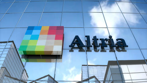 Editorial, Altria logo on glass building Animation