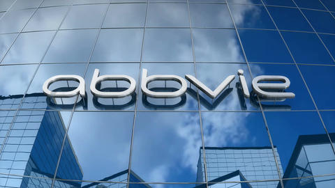 Editorial, AbbVie logo on glass building Animation
