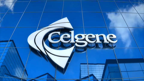 Editorial, Celgene logo on glass building Animation