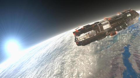 Sci-fi spaceship, star ship Animation