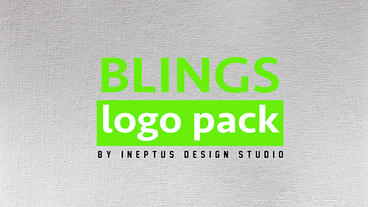 Blings logo pack Plantilla de Apple Motion