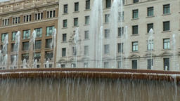 Spain Barcelona 046 splashing fountains in Plaça de Catalunya