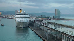 Spain Barcelona 084 cruise ship and W hotel Footage