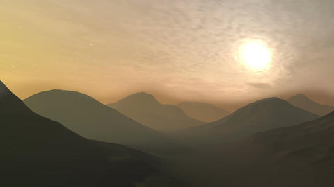 Mountain Sunset Background Footage