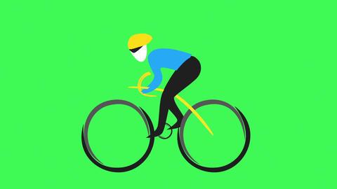Cyclist Loop 1 Animation