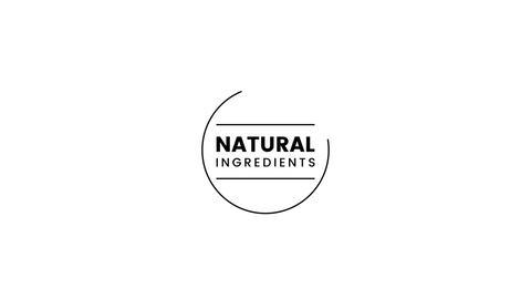 Natural Ingredients label Stock Video Footage