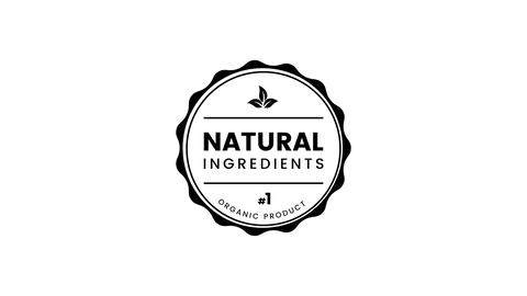 Natural Ingredients label Animation