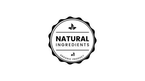 Natural Ingredients label Animation