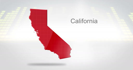 Motion Graphics 3D animation of the american state of California Animation