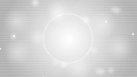 Light grey tech circuit board technology video animation Animation