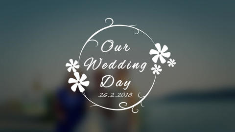 Wedding Title V4 After Effects Template
