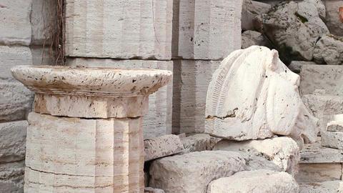 Ancient Greek Sculpture Footage