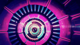 The Stage Background Of Color Tunnel Dynamic Rhythm Background Video Footage