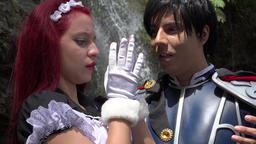 Prince Romantically Kisses Maiden Stock Video Footage