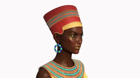 Nefertiti spouse of the pharaoh , loop, animation, Alpha channel Animation