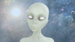 Extraterrestrial alien in space Animation