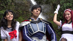 Teens Wearing Cosplay Costumes Live Action
