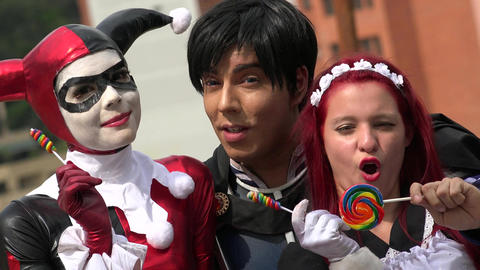 Happy Cosplay Friends With Lollipops Live Action