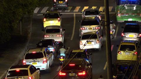 Night Road Automobile Traffic Footage
