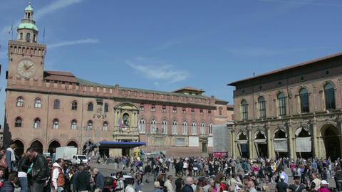The Piazza Grande in Bologna, Italy GIF