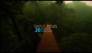 Simple lower thirds v1 After Effects Template