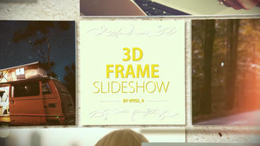 3D Frame slideshow After Effects Project