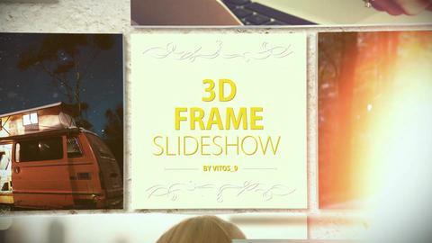 3D Frame slideshow After Effects Template