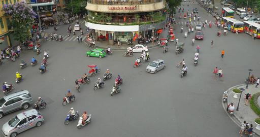 Chaotic Street In Hanoi Vietnam Footage