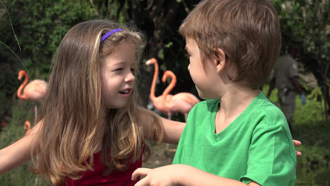 Child Brother And Sister Footage