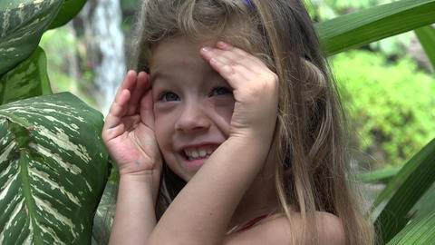 Shy Or Timid Toddler Girl Live Action