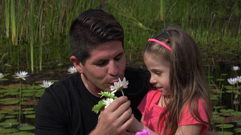 Divorced Father And Daughter Outdoors Footage