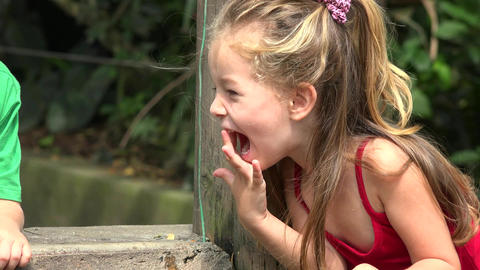 Young Laughing Toddler Girl Live Action