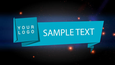 Origami Paper Banner After Effects Template
