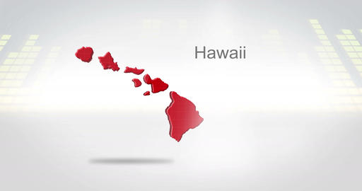 Motion Graphics 3D animation of the american state of Hawaii Animation