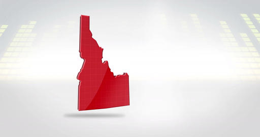 Motion Graphics 3D animation of the american state of Idaho Stock Video Footage