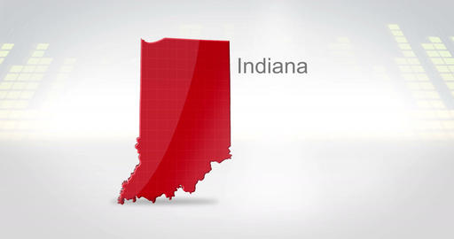 Motion Graphics 3D animation of the american state of Indiana Animation