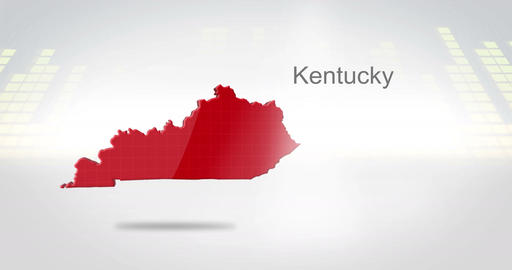 Motion Graphics 3D animation of the american state of Kentucky Animation
