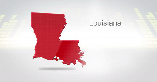 Motion Graphics 3D animation of the american state of Louisiana Animation