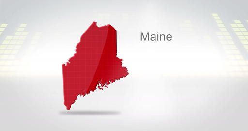 Motion Graphics 3D animation of the american state of Maine Animation