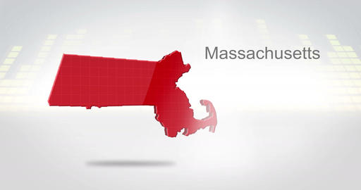 Motion Graphics 3D animation of the american state of... Stock Video Footage