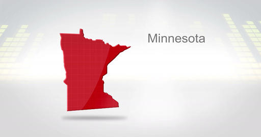 Motion Graphics 3D animation of the american state of Minnesota Animation