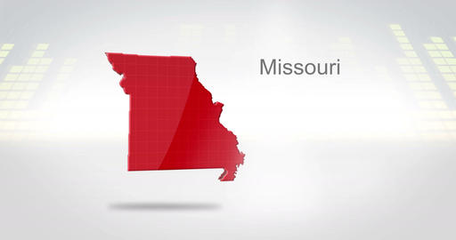 Motion Graphics 3D animation of the american state of Missouri Animation