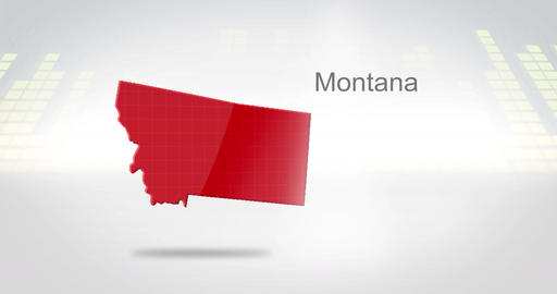 Motion Graphics 3D animation of the american state of Montana Animation