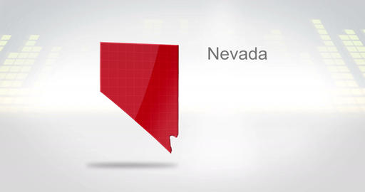 Motion Graphics 3D animation of the american state of Nevada Animation