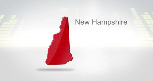 Motion Graphics 3D animation of the american state of New Hampshire Animation