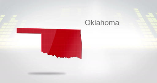 Motion Graphics 3D animation of the american state of Oklahoma Animation