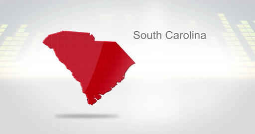 Motion Graphics 3D animation of the american state of South Carolina Animation