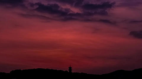 Timelapse-Five Storeyed Pagoda in the morning sun-1 Live Action
